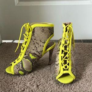 Brand new neon yellow heels